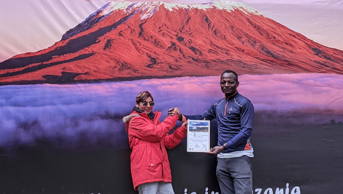 Sarada Kuragayla Scales Mount Kilimanjaro