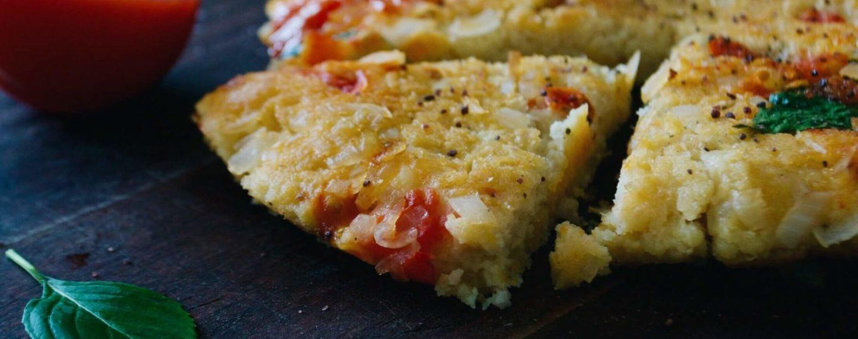 Omelete de grão-de-bico (sem ovos)